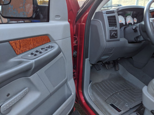 Interior Detailed Red Dodge Truck