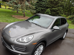 Exterior Detailed Porsche SUV Front Side View